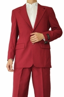 Mens Basic Suit Burgundy 2 Button Single Breast Fortini 702P