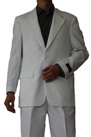 Mens Basic Suit White 2 Button Single Breast Fortini 702P