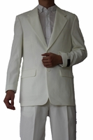 Mens Basic Suit Cream 2 Button Single Breast Fortini 702P