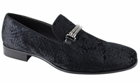 Mens Black Velvet Trendy Designer Slip On Party Loafers AM 6767