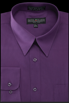 Mens Bright Colored Fashion Type Dress Shirts Purple Ds3001