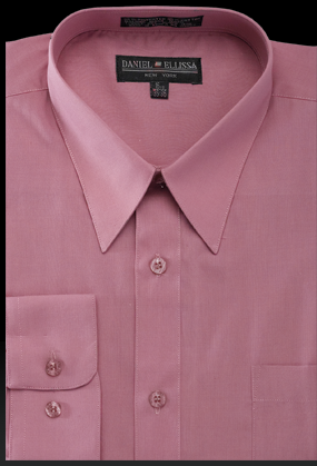 Bright Colored Type Dress Shirts For Men Rose Pink Ds3001