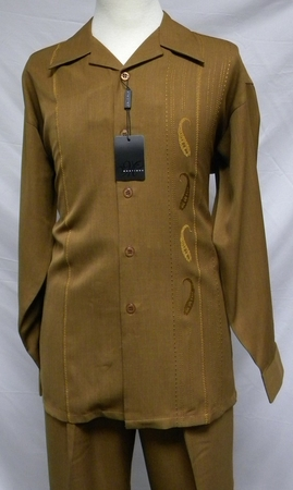 Montique Mens Bronze Embroider Long Sleeve Walking Suits 1132 - click to enlarge