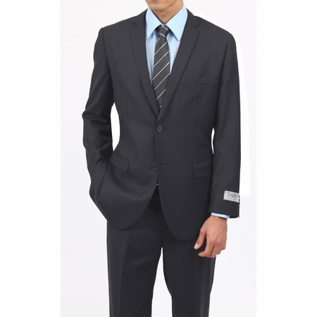 Mens Charcoal Gray 2 Button Classy Ultra Slim Fit Type Suit 2 Piece M085S-03 - click to enlarge