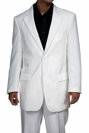 Mens Cheap White Suit on Sale Discount N2PP - click to enlarge