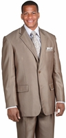Mens Church Suit High Fashion Light Brown Sharkskin 2 Piece Milano 57021