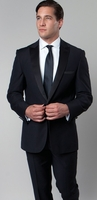 Mens Designer Slim Fit Peak Lapel Navy Tuxedo Taxio M182S-04