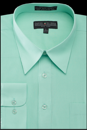mens dress shirts mint green color regular collar long