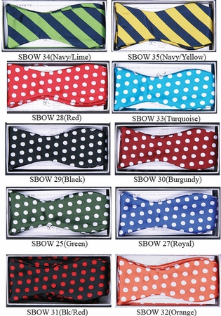 Mens Fancy Hand Knot Bow Tie Set SBOW-1 - click to enlarge