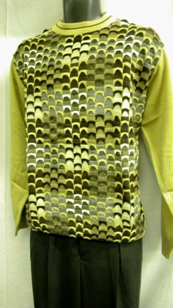 Mens Fashion Sweater by Gochu Tan Australian Style Crewneck 1327 - click to enlarge
