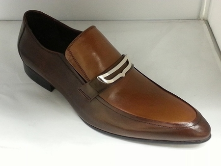 Mens High Fashion Leather Shoes by Zota Brown Tan HA93-9 - click to enlarge