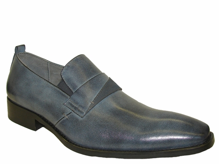 Mens High Fashion Shoes by Brutini Blue Slip On Shoes B100163 IS - click to enlarge