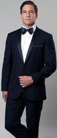 Mens Navy Designer Slim Fit Navy Tuxedo Tazio M187S-02
