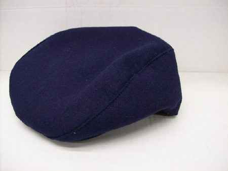Mens Navy Wool Flannel Ivy Cap - click to enlarge