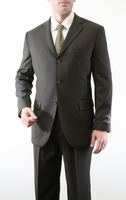 Mens Olive Green 3 Button Suit Pleated Pants Tazio M103