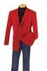 Mens Red Velvet Blazer 2 Button Regular Fit Vinci B-19