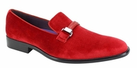 Mens Red Velvet Designer Slip On Party Loafers AM 6753