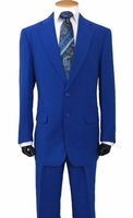 Mens Regular Royal Blue Suit 2 Button Single Breasted Fortini 702P