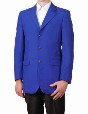 Mens Royal Blue 3 Button Blazer Traditional Sport Coat Lucci NZ-3PP - click to enlarge