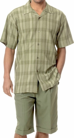 Mens Short Sets by Montique Olive Woven 135 - click to enlarge