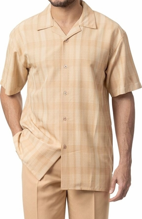 Mens Short Sets by Montique Tan Woven 135 - click to enlarge