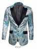 Mens Slim Fit Ice Blue Paisley Blazer Sorrento 117
