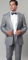 Mens Slim Fit Peak Lapel Light Grey Tuxedo Tazio M187S-05