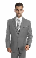 Mens Suits Gray 2 Piece Flat Front Pants Super 150s Tazio M202-05