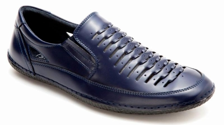 Mens Summer Casual Shoes by Montique Navy Blue S18 - click to enlarge