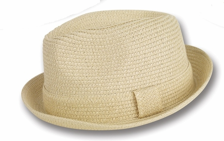 Mens Summer Hats by Montique Tan Stingy Brim Hat H-04 - click to enlarge