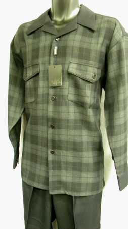Montique Black Plaid Casual Outfit 1065 - click to enlarge