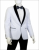 Mens White Black Pants Slim Fit Tuxedo Suit Vittorio YS81A