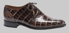 Mezlan Alligator Shoes Mens Brown Beige Inlay Lace Up Fernan