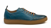 Mezlan Casual Sport Shoes Mens Blue Italian Calf Lace Up Ceres 8343