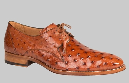 Mezlan Spain Shoes Brandy Bumpy Ostrich Skin Oxford Ellis - click to enlarge