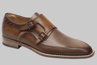 Mezlan Loafers For Men Brown Double Monk Strap Magno