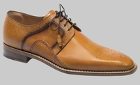 Mezlan Men Shoes Tan Calfskin Smooth Toe Lace Up Saturno