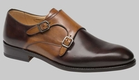 Mezlan Mens Shoes Tan Brown 2 Tone 2 Buckle G150