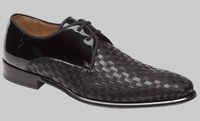 Mezlan of Spain Black Woven Calf Skin Shoes Sexto