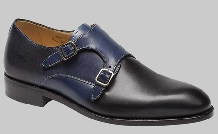 Mezlan Mens Shoes 2 Tone Navy Blue 2 Buckle G150 - click to enlarge