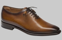 Mezlan Shoes Mens Cognac Burst Finish Plain Toe Eugene