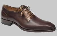 Mezlan Shoes Mens Brown Alligator Inlay Plain Toe Olimpo