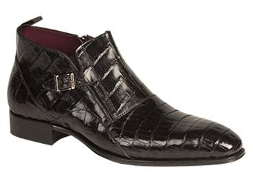 Mezlan Hand Made Custom Genuine Crocodile Bene Side Buckle Boot