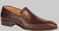 Mezlan Mens Sport Brown Lizard Skin Loafer Hooke Size 10 Final Sale