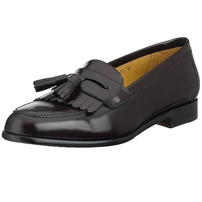 Mezlan Shoes Santander Black Kiltie Tassle Loafers
