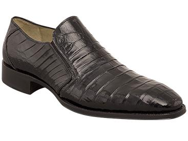 Mezlan Exotic Black Crocodile Fiorello Slip On Shoe