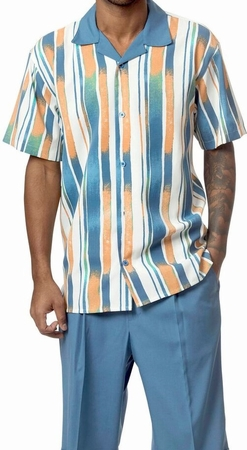 Mens Leisure Outfits by Montique Blue Pattern 1736 - click to enlarge