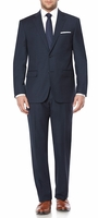 Modern Fit Suit for Men Navy Blue Flat Front Pants Vittorio A62W