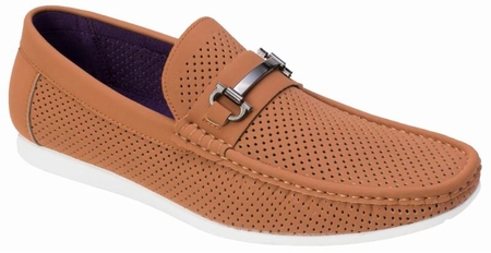 Montique Men's Brandy Metal Bit Perforated Casual Loafers S45 - click to enlarge