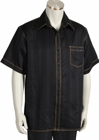 Canto Walking Sets Black Denim Style Short Sleeve 698 Size Large/36 Waist Final Sale - click to enlarge